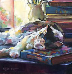cat sleeping book Karen Mathison Schmidt