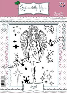 Trudie Howard Sentimentally Yours A6 Stamp Set - Angel Angel, Stamp, Angels, Stamps