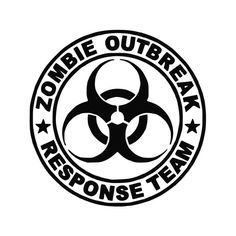 Zombie Outbreak Response Team Skull Decal- I'm getting one of these for everyone in the wedding party. Car Window Stickers, Window Decals, Car Decals, Vinyl Decals, Car Stickers, Cricut Vinyl, Funny Bumper Stickers, Wall Vinyl, Wall Sticker