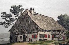 1801 Heinrich Fuessli - near AFFOLTERN (Hoengg) original hand colored etching