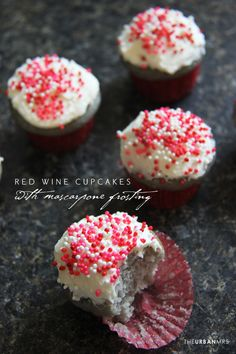 Red Wine Cupcakes @Linda | The Urban Mrs