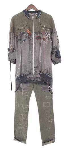 """TRACKSUIT SET FROM UNDERCOVER """"SCAB"""" S/S 2003as seen here and..."""