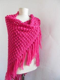 woman accessories Crochet Shawl...handmade shawl by ScarfsSale