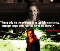 Thank goodness I grew up wanting to be Hermione, and not Cinderella.