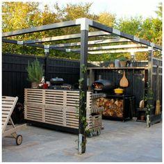 Organiske materialer giver glød til terrassen   Tina Dalbøges kreative påfund   Bloglovin'