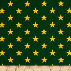 All Stars Green/Yellow  1/2 yard 100 Cotton by JRsFabricStash, $8.00