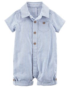 Baby Boy Certified Organic Polo-Style Romper | Carters.com