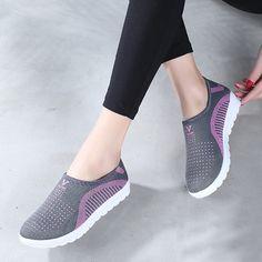 sports shoes 6cbe4 e3849 53.86  Mujeres zapato vulcanizar Las Mujeres zapatos casuales de Malla  Plataforma Aumento de la Altura Cuñas de encaje Blanco caliente  Entrenadores ...