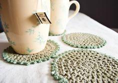 crochet coasters by BobbiLewin on Etsy