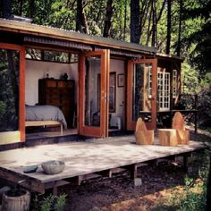 Home Decorating Style 2020 for Rustic Shipping Container Homes House Plans, you can see Rustic Shipping Container Homes House Plans and more pictures for Home Interior Designing 2020 at Container House Rustic Tiny Homes. Casas Containers, Decoration Inspiration, Cabins And Cottages, Tiny Cabins, Log Cabins, Shipping Container Homes, Shipping Containers, Cabins In The Woods, Bungalows