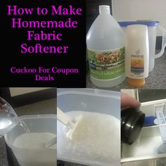 1000 images about diy household cleaners laundry dish washing detergents on pinterest - How to make your own fabric softener ...