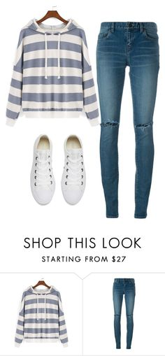 """""""Untitled #439"""" by aaisha123 ❤ liked on Polyvore featuring Yves Saint Laurent and Converse"""