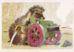 "Vintage Gamburger ""Hedgehog"" Print - 1979. Fine Arts, Moscow"