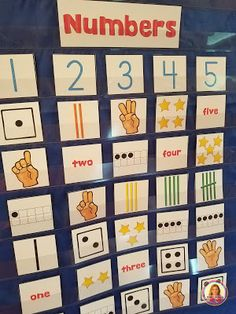 How To Produce Elementary School Much More Enjoyment Dollar Deals For Your Classroom Number Sense Pocket Chart Center Number Sense Kindergarten, Numbers Kindergarten, Kindergarten Centers, Math Numbers, Teaching Kindergarten, Preschool Classroom, Math Centers, Preschool Journals, Activity Centers