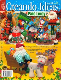 Colección de revistas de manualidades : Revistas Creando Ideas gratis Christmas Books, Felt Christmas, Christmas Ornaments, Cross Stitch Books, Handmade Books, Book Crafts, Craft Books, Favorite Holiday, Wool Felt