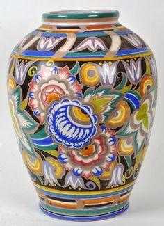 An Impressive Poole Pottery Shape Vase of Baluster Form by Truda Carter | Shapes Edinburg