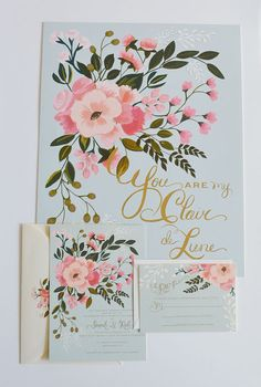 sweet floral invites