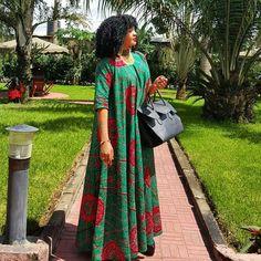 Jacque wearing Kiki's Fashion african print maxi dress @wolperstylish…