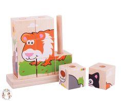 ef2c44d80fc6cf Deze leuke stevige houten blokken puzzel van Big Jigs is een goede  introductie tot puzzel plezier