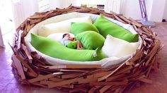 Birds nest bed.