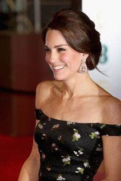 """Princess Kate in Her Alexander McQueen """"Non-Traditional Princess"""" Formal Dress at BAFTA Awards July 12 2017"""