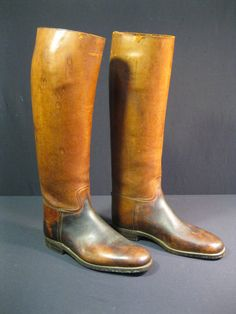 Vintage Riding Boots Hunt Peal and Co. by TheSpiresCollection Polo Boots, Mens Shoes Boots, Mens Boots Fashion, Men's Shoes, Shoe Boots, Riding Gear, Riding Boots, Western Boots, Cowboy Boots