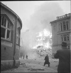 Abrahamin- ja Lönnrothinkadun kulma Helsingissä. (1939-11-30 SA-kuva)