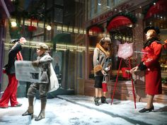 "Weihnachtsschaufenster mit ""Heilsarmee-Szene"", Macy's, New York    Copyright http://www.flickr.com/photos/ilnycilnyc/"