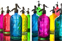 Colored Glass Bottles...pretty cool..