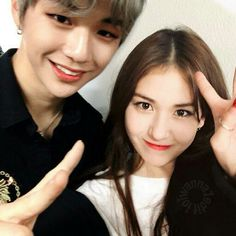 Jeon Somi x Kang Daniel Kpop Couples, Cute Anime Couples, Ulzzang Couple, Ulzzang Girl, Lee Taeyong, K Pop, Kang Daniel Produce 101, Couples Modeling, Daniel Day