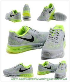 huge selection of 2b60e e3b7b Nike Air Max 2014 Cool Gray Fluorescent Vert Noir 621077-007 Livraison  Rapide