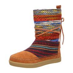 Jetzt gibts die Hippie-Mode auch für den Winter - Bunte Mokassin Boots von Toms bei schuhe.de