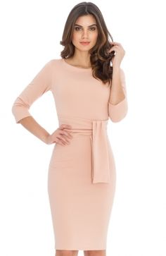 DR583_front Pencil Dress, Peplum Dress, Bodycon Dress, Stylish Dresses, Casual Dresses, Dresses For Work, Uk Size 16, Nude Heels, Occasion Wear