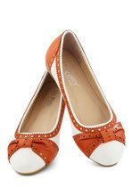 How About Wow? Flat in Terracotta   Mod Retro Vintage Flats   ModCloth.com