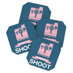 Naxart I Like To Shoot 6 Coaster Set | DENY Designs Home Accessories