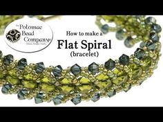 ▶ Make a Flat Spiral Bracelet - YouTube free tutorial from The Potomac Bead Company www.potomacbeads.com Buy Online: www.thebeadco.com