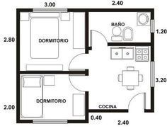 planos de casas pequeñas - Buscar con Google #cocinaspequeñasdepartamento