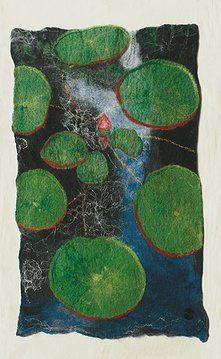 Water Lillies FELT PICTURES 2013 by Bridget Bernadette Karn