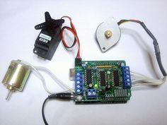 Arduino Motor Shield (servo, stepper e DC)