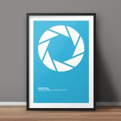 Portal Poster, Game Poster, Minimalist Poster, Flat Poster Design, Clean Poster Design, Digital Poster, Printable Poster