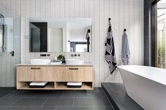 Navy Blue And Charcoal Bathroom How To Easily Achieve The Modernist Interior Design Style for Navy Blue And Charcoal Bathroom Modernist Interior, Trendy Bathroom, Bathroom Makeover, Charcoal Bathroom, Modern Bathroom, Bathroom Renovations, Bathrooms Remodel, Bathroom Design, Tile Bathroom