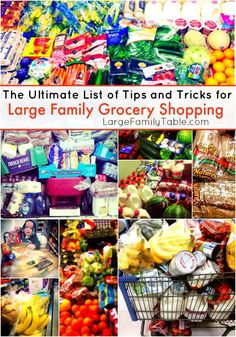 The Ultimate List of Tips and Tricks for Large Family Grocery Shopping - Large Family Table Shopping List Grocery, Grocery Haul, Shopping Hacks, Frugal Meals, Budget Meals, Cheap Meals, Freezer Meals, Cheap Food, Inexpensive Meals