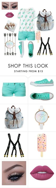 """""""Ice Cream"""" by skylarmarie928 ❤ liked on Polyvore featuring TWINTIP, Converse, Aéropostale, Chanel, Tory Burch and Lime Crime"""