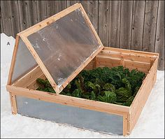 Extend the growing season in spring and fall with a Cedar Cold Frame - Lee Valley Tools
