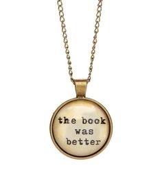 Love this Patina Goldtone 'The Book Was Better' Necklace on #zulily! #zulilyfinds