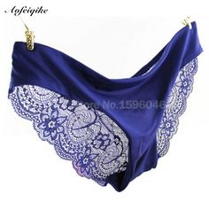 7ceb4ad7305c 2016 New Arrival Women's Sexy Lace Panties Seamless Panty Briefs Blue Underwear  Comfortable Lingerie Sexy Intimates