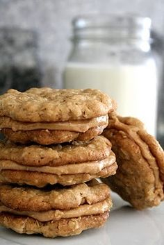 Peanut Butter cookies are my favorite favorite cookie ever. These half-way to heaven peanut butter cookies via Broma Bakery. Just Desserts, Delicious Desserts, Yummy Food, Dessert Healthy, Health Desserts, Broma Bakery, Cupcakes, Snacks, How Sweet Eats