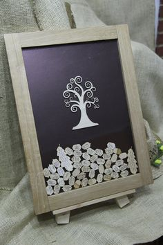 Personalized Wooden Hearts Wedding Guest Book Weddings And