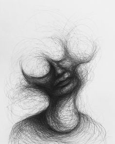 Adam Riches - with the pen drawing procedure, you can deli Creepy Drawings, Dark Art Drawings, Creepy Art, Art Drawings Sketches, Beauty Illustration, Arte Horror, Horror Art, Art Sinistre, Architecture Drawing Sketchbooks