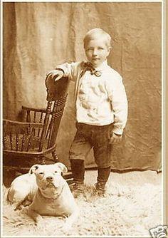 a victorian boy & his pitbull photo #sepia # vintage # retro